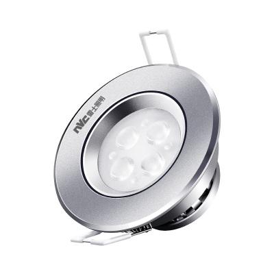 雷士照明led筒燈客廳吊頂天花燈嵌入式鋁材孔燈桶燈4W洞燈單過道射燈 牛眼射燈
