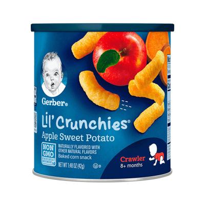 嘉寶(Gerber)蘋果甜薯味有機泡芙條 3段 42g/桶裝 寶寶零食點心 原裝進口 8個月以上