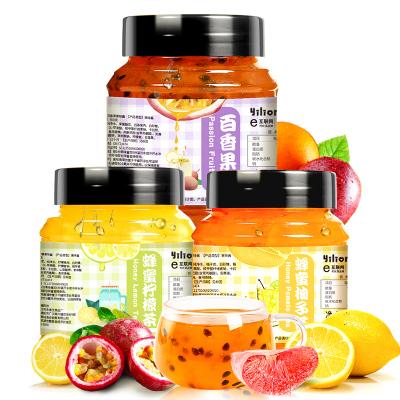 【送勺】蒲草茶坊 蜂蜜柚子茶檸檬茶百香果含糖罐裝柚子味果味沖飲冷藏500g/1500g