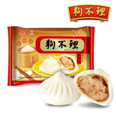 天津狗不理包子豬肉餡早餐速凍包子420g速食早餐半成品面食饅頭類