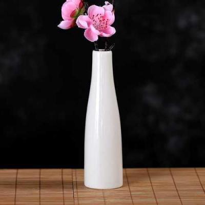 長形白色 陶瓷小花瓶清新小花插簡約創意古典臥室客廳插花擺件水培器小瓷瓶【定制】