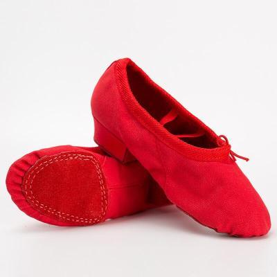 苏宁放心购成人帆布教师鞋儿童带跟舞蹈鞋软底练功鞋民族舞瑜伽鞋肚皮舞鞋聚兴新款