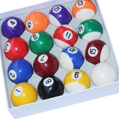 閃電客黑八臺球球子美式十六彩標準大號球花式九球桌球子臺球用品配件 彩盒大號球(57.2MM)