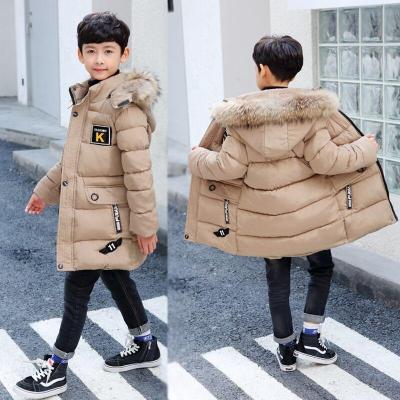 男童冬款棉衣加厚男孩中长款棉袄休闲中大童儿童棉服加绒童装大衣