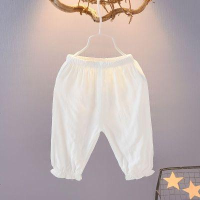 女童防蚊褲夏季長褲1-3-4歲男女兒童寶寶燈籠褲 綿綢薄款嬰兒褲子