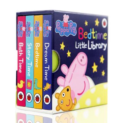进口英文原版 Peppa Pig Bedtime Little Library 小猪佩奇 粉红猪小妹 4册手掌纸板书