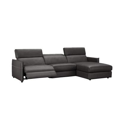 科智乐欧式全皮真牛皮电动沙发组合VISTA 右躺位 松果棕