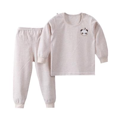 口袋虎2019秋季新品男女童純棉內衣套裝0至6歲嬰幼兒打底衣套裝家居服110cm