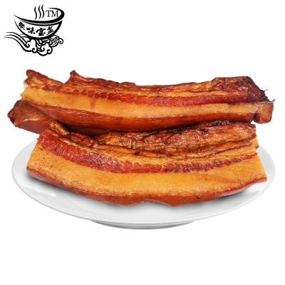 聚味寶盆 湖南臘肉煙熏偏肥臘肉500g 正宗農家風味煙熏咸肉湘西風味熏臘肉
