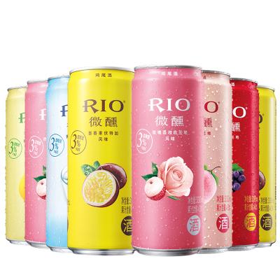 【酒廠自營】RIO銳澳雞尾酒微醺百香果玫瑰荔枝白桃乳酸菌6口味330ml*8罐新品