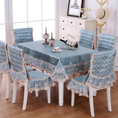 凡軒 桌布長方形餐桌布布藝椅子套歐式通用餐椅墊套裝家用餐桌椅子套罩