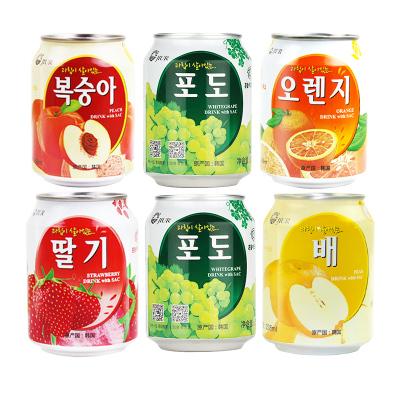 九日韓國進口飲品果肉粒網紅果汁飲料果肉果汁組合238ml*6罐裝