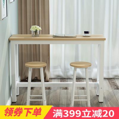 深海夢蝶 家用吧臺小隔斷高腳桌靠墻吧臺桌高桌子客廳長方形桌椅簡約現代