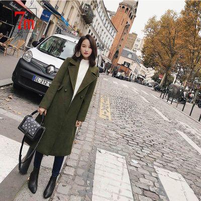 7M莫麗莫爾毛呢外套女新款韓版時尚氣質羊毛呢子大衣毛呢70008990