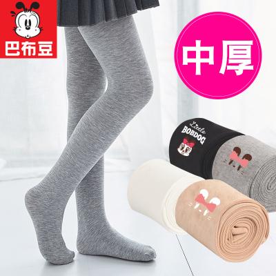 巴布豆女童連褲襪春秋兒童肉色打底褲中厚光腿神器白色絲襪專用舞蹈襪子