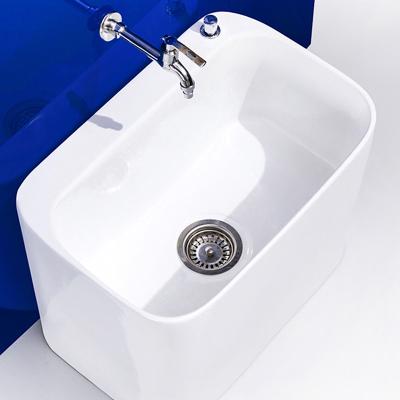 拖把池陽臺小號陶瓷洗拖布池家用臺控墩布池衛生間方形自動下水器