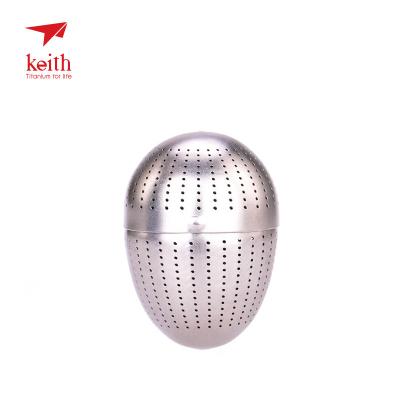 Keith鎧斯戶外純鈦茶葉蛋 創意濾茶器泡茶網茶壺配件內置茶杯茶漏MI3920