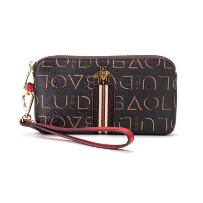 都寶路(dubaolu)手包女新款時尚簡約零錢包女士小包包手拿可放手機蜜蜂包1DKI150191