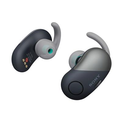 索尼(SONY)WF-SP700N 真无线降噪防水运动耳机 黑色