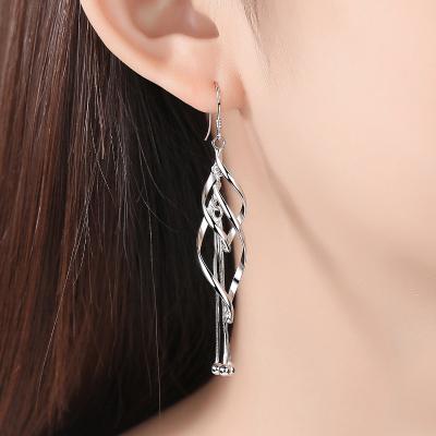 法蔻輕奢品牌925銀耳環女氣質長款韓國個性百搭耳釘流蘇簡約小眾設計耳墜耳線