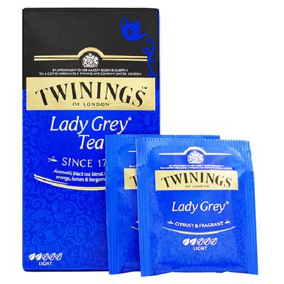 英国川宁(TWININGS) 仕女伯爵金典红茶 波兰进口茶叶袋泡茶包 25包*2g