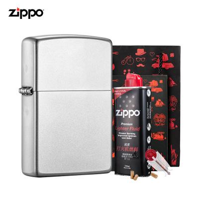 ZIPPO芝寶官方旗艦店原裝打火機ZIPPO正版緞砂禮盒套裝打火機ZCBEC-59