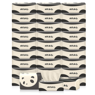 植护 抽纸 功夫本色系列(熊猫)4层加厚280张*30包 小规格竹浆本色抽纸