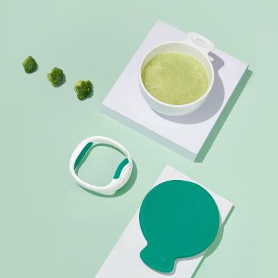 babycare嬰兒研磨碗輔食工具寶寶輔食碗研磨器棒兒童餐具套裝雀湖綠