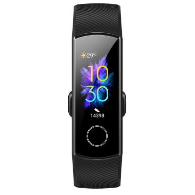 HONOR/華為榮耀智能手環5 NFC版 隕石黑(AMOLED彩屏觸控+貼身血氧檢測+50米防水+實時心率檢測+NFC和掃碼支付+適配安卓&iOS平臺+10種運動模+14天續航 )