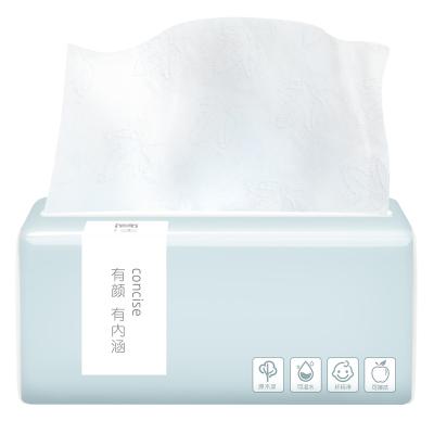 纖凈系列抽取式面巾紙 4層300張簡潔款1包抽取式餐巾紙衛生紙母嬰適用