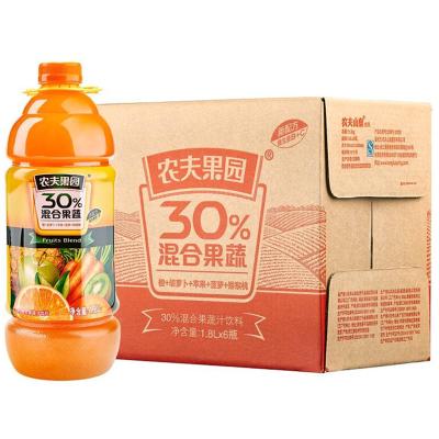 農夫山泉 農夫果園 30%混合果蔬汁(胡蘿卜+蘋果+橙) 1.8L*6瓶