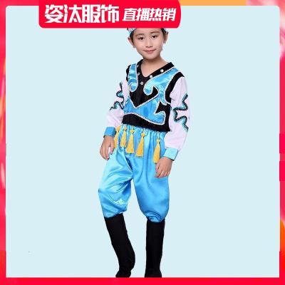 六一兒童節少兒演出服兒童表演服民族蒙族女童筷子舞蹈服幼兒蒙古舞服裝紗裙