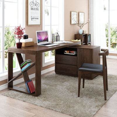 華納斯(HUANASI) 電腦桌 北歐書桌簡約現代轉角電腦桌臺式寫字臺書桌