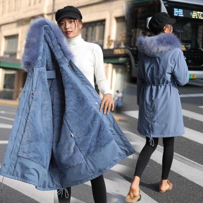 2020新款ins超火棉衣女中長款派克服加絨內膽大碼棉服冬季寬松加厚學生棉襖外套