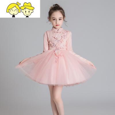 4女童冬裙连衣裙5洋气礼服大红色8儿童旗袍加绒公主裙9中国风年服