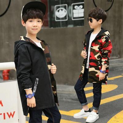 童裝男童春秋款外套2018新款韓版中長款風衣兒童中大童外套