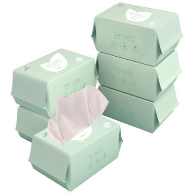 棉花秘密干湿两用巾婴儿新生儿清洁湿巾手口用棉柔巾100抽*6包 非湿巾