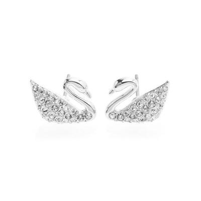 SWAROVSKI 施华洛世奇 经典人造水晶满钻天鹅女士造型耳环1116357