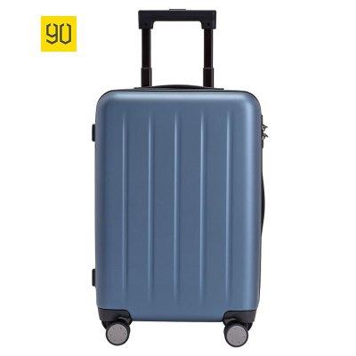 小米(mi)生態鏈 90分旅行箱1A(20寸)極光藍 男女通用萬向輪商務休閑登機行李箱