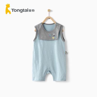 童泰(TONGTAI)夏季款嬰兒衣服3-18月男女寶寶純棉外出無袖連體衣2020年新款兒童內衣