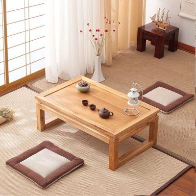 航竹坊 日式茶桌榻榻米茶几禅意现代简约实木炕桌飘窗桌子窗台小矮桌
