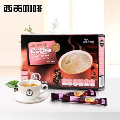 越南进口 西贡咖啡 醇郁奶香味540g(36杯)盒装 Sagocoffee三合一速溶咖啡