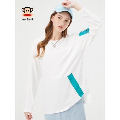 PaulFrank/大嘴猴新款T恤男女2019春季时尚圆领长袖情侣款打底衫