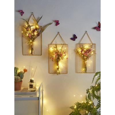 北欧ins铁艺格墙壁装饰干花插花花瓶墙面挂饰室内卧室壁挂送礼