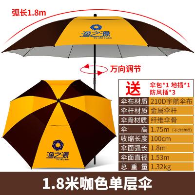 漁之源戶外釣魚傘2.2米2.4魚傘釣傘萬向折疊加厚防曬雨傘遮陽大傘
