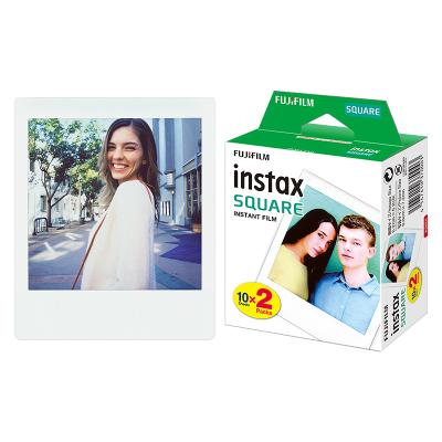 FUJIFILM/富士拍立得SQ10/SQ6/SP3 方形相紙白邊 兩盒裝20張 一次成像迷你相紙