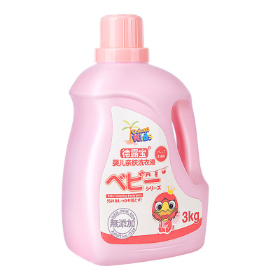 德露寶嬰兒洗衣液3kg母嬰幼兒童孕婦適用無熒光劑孕婦兒童衣服尿布去漬3KG