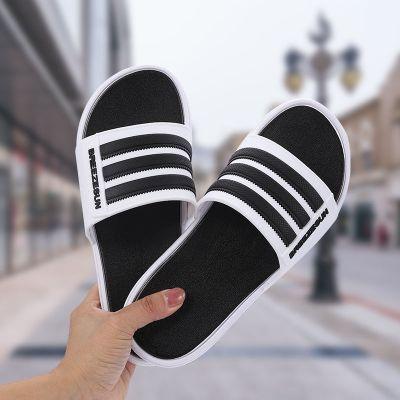 鳥之語拖鞋男女夏季潮流網紅外穿家用防滑社會ins百搭時尚韓版三杠情侶