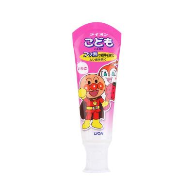 【直營】Lion/獅王面包超人兒童牙膏 草莓味40g 水果味寶寶口腔發育(保稅)