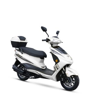 风感觉新款摩托车迅鹰电喷125cc踏板车燃油助力车鬼火街跑可上牌